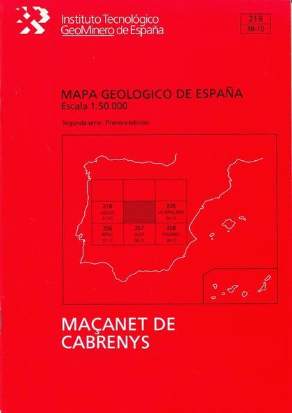 MAPA GEOLÓGICO DE ESPAÑA, E 1:50.000 Y MEMORIA. N  219 MASSANET DE CABRENYS