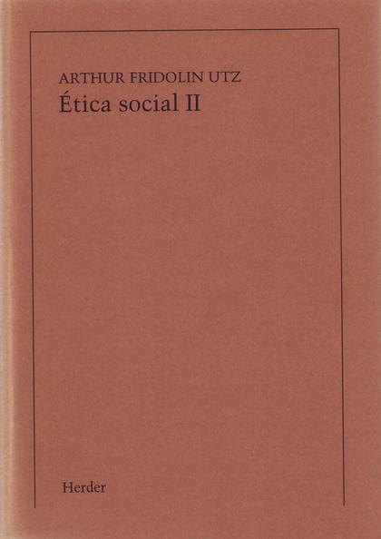 ETICA SOCIAL, TOMO II. FILOSOFIA DEL DERECHO