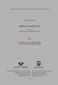 HISTORIA DE LA LITERATURA VASCA : LITERATURA VASCA DEL SIGLO XX