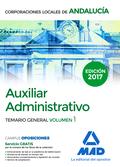 AUXILIAR ADMINISTRATIVO DE CORPORACIONES LOCALES DE ANDALUCÍA. TEMARIO GENERAL V.