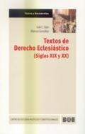 TEXTOS DE DERECHO ECLESIÁSTICO (SIGLOS XIX Y XX)