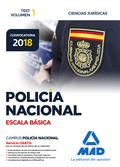 POLICÍA NACIONAL ESCALA BÁSICA. TEST VOLUMEN 1 CIENCIAS JURÍDICAS.