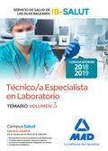 TECNICO/A ESPECIALISTA DE LABORATORIO DEL SERVICIO DE SALUD DE LAS ILLES BALEARSTEMARIO VOLUMEN