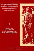 ACTAS DO XIX CONGRESO INTERNACIONAL DE LINGÜÍSTICA E FILOLOXÍA ROMÁNICAS. II: LE