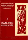 ACTAS DO XIX CONGRESO INTERNACIONAL DE LINGÜÍSTICA E FILOLOXÍA ROMÁNICAS. V: GRA