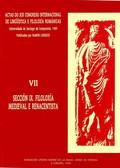 ACTAS DO XIX CONGRESO INTERNACIONAL DE LINGÜÍSTICA E FILOLOXÍA ROMÁNICAS. VII: F