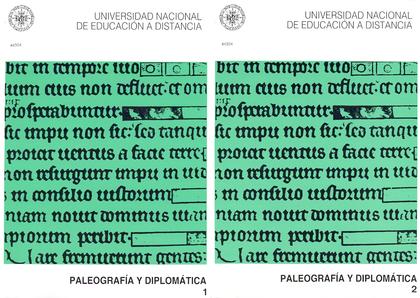 REF 02415UD05 PALEOGRAFIA Y DIPLOMATICA