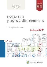 CÓDIGO CIVIL Y LEYES CIVILES GENERALES 2019.