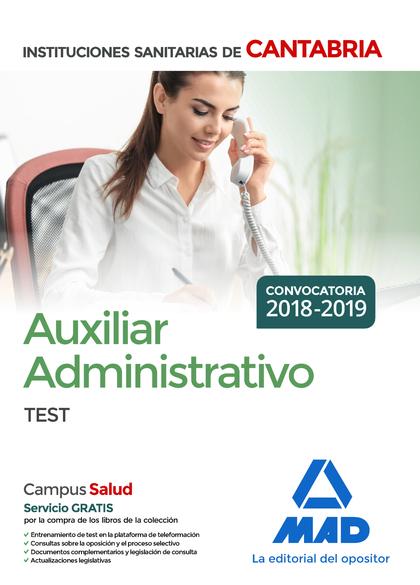 AUXILIAR ADMINISTRATIVO DE LAS INSTITUCIONES SANITARIAS DE LA COMUNIDAD AUTÓNOMA.