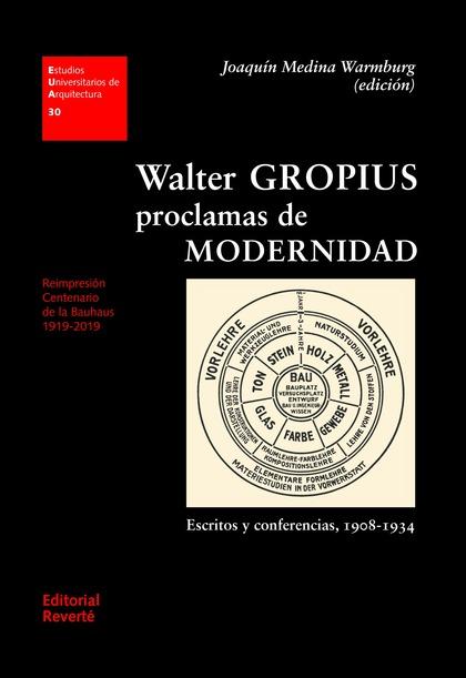 WALTER GROPIUS. PROCLAMAS DE MODERNIDAD                                         ESCRITOS Y CONF