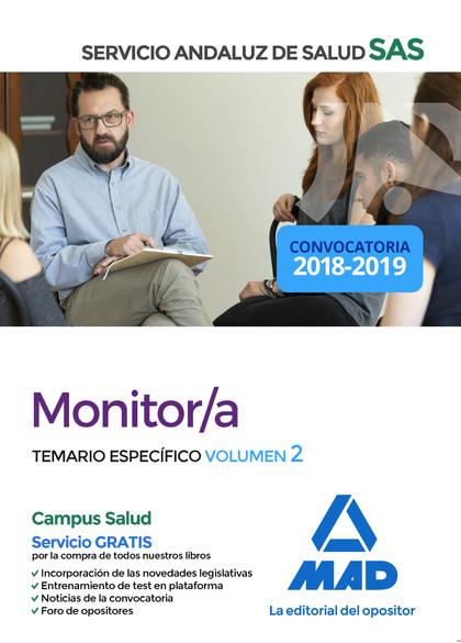 MONITOR DEL SERVICIO ANDALUZ DE SALUD. TEMARIO ESPECÍFICO VOLUMEN 2
