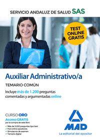 AUXILIAR ADMINISTRATIVO DEL SERVICIO ANDALUZ DE SALUD. TEMARIO COMÚN