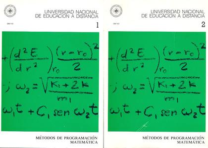 REF 08514UD METODOS PROGRAMACION MATEMATICA