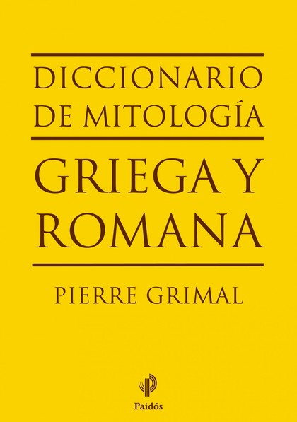 DICCIONARIO DE MITOLOGA GRIEGA Y ROMANA.