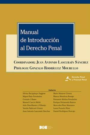 MANUAL DE INTRODUCCIÓN AL DERECHO PENAL.