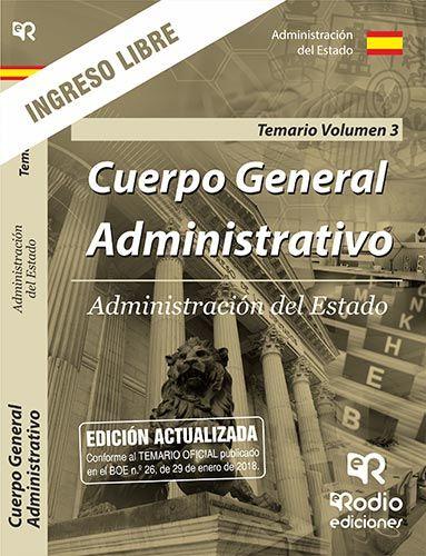 CUERPO GENERAL ADMINISTRATIVO ADMINISTRACION GENERAL DEL ESTADO TURNO LIBRE TEMA.