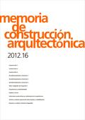 MEMORIAS DE CONSTRUCCIÓN ARQUITECTÓNICA 2012.16
