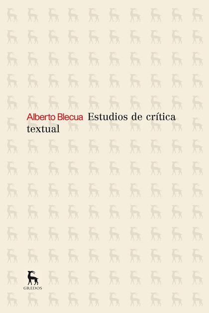 ESTUDIOS SOBRE CRITICA TEXTUAL.