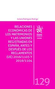 RELACIONES ECONOMICAS MATRIMONIOS Y UNIONES REGISTRADAS EN ESPAÑA, ANTES Y DESPU.