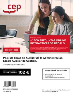 PACK DE LIBROS OPOSICIONES AUXILIAR DE LA ADMINISTRACIÓN. ESCALA AUXILIAR DE GES.
