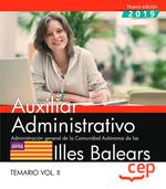 AUXILIAR ADMINISTRATIVO. ADMINISTRACIÓN GENERAL DE LA COMUNIDAD AUTÓNOMA DE LAS.