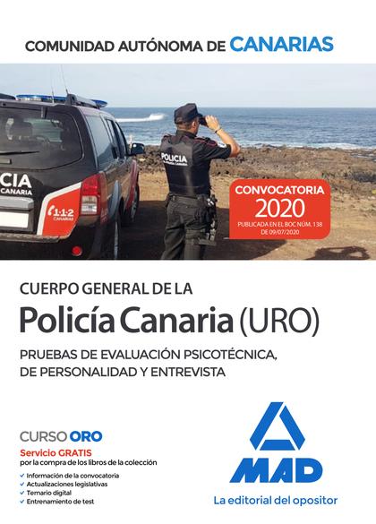 CUERPO GENERAL DE LA POLICÍA CANARIA ESCALA BÁSICA (POLICÍA URO). PRUEBAS DE EVA.