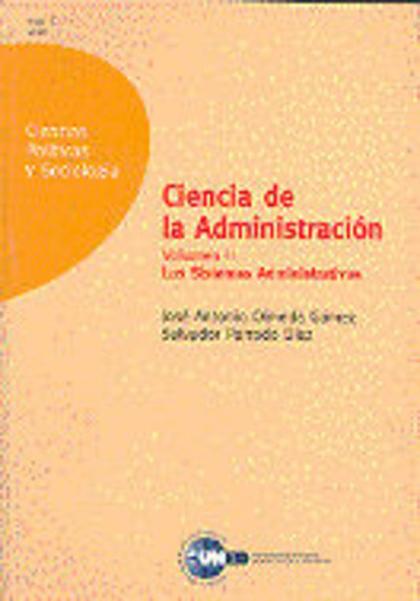 UD. II. CIENCIA DE LA ADMINISTRACION: LOS SISTEMAS ADMINISTRATIVOS