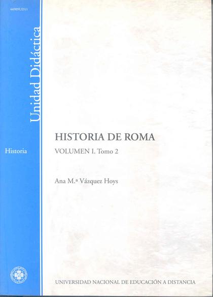 HISTORIA DE ROMA. VOLÚMEN I. TOMO 2.