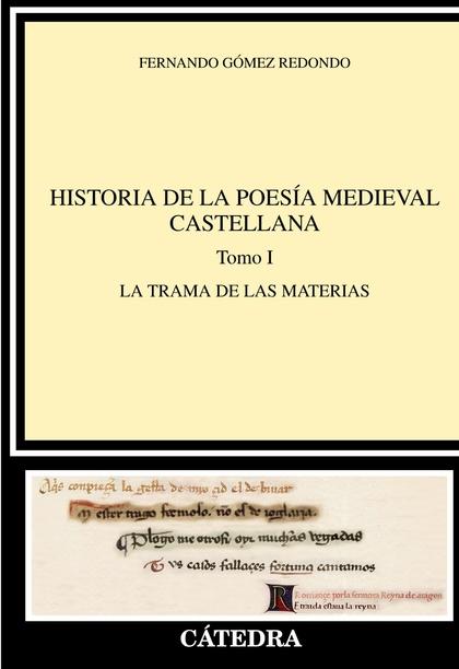 HISTORIA DE LA POESÍA MEDIEVAL CASTELLANA  I.