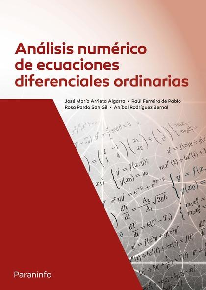 ANÁLISIS NUMÉRICO DE ECUACIONES DIFERENCIALES ORDINARIAS.