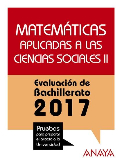 MATEMÁTICAS APLICADAS A LAS CIENCIAS SOCIALES II..