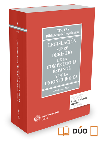 LEGISLACIÓN SOBRE DERECHO DE LA COMPETENCIA ESPAÑOL Y DE LA UNIÓN EUROPEA (PAPEL.
