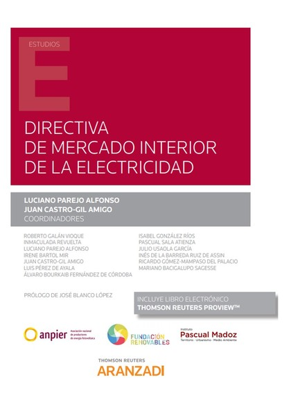 DIRECTIVA DE MERCADO INTERIOR DE LA ELECTRICIDAD (PACK DÚO PAPEL + CLAVE E-BOOK)