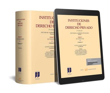 INSTITUCIONES DE DERECHO PRIVADO. TOMO V SUCESIONES. VOLUMEN 3º (DÚO).