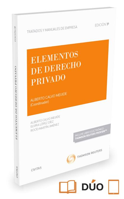 ELEMENTOS DE DERECHO PRIVADO ( PAPEL + E-BOOK ).