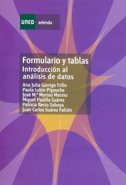 FORMULARIO Y TABLAS : INTRODUCCIÓN AL ANÁLISIS DE DATOS