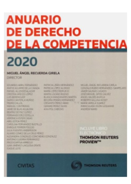 ANUARIO DE DERECHO DE LA COMPETENCIA 2020 DUO.
