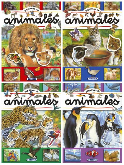 PEGATINAS DE ANIMALES (4 TÍTULOS).