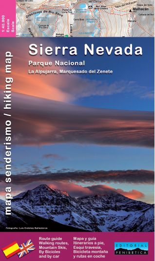 SIERRA NEVADA PARQUE NACIONAL 1 40000 MAPA GUIA SENDERISMO.