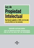 LEY DE PROPIEDAD INTELECTUAL : REAL DECRETO LEGISLATIVO 1-1996, DE 12 DE ABRIL, Y LEY 21-2014,