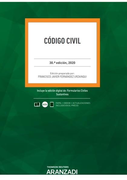 CÓDIGO CIVIL 30ª ED. 2020.