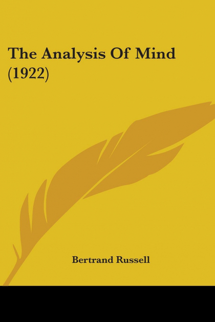 THE ANALYSIS OF MIND (1922)