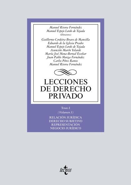 LECCIONES DE DERECHO PRIVADO                                                    TOMO I (VOLUMEN
