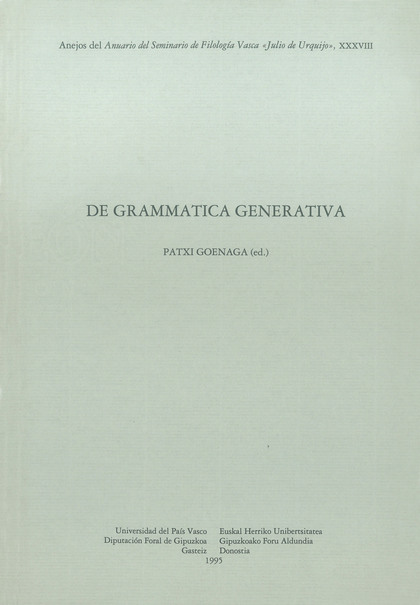 DE GRAMMATICA GENERATIVA