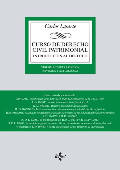 CURSO DE DERECHO CIVIL PATRIMONIAL. INTRODUCCIÓN AL DERECHO