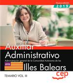 AUXILIAR ADMINISTRATIVO ADMINISTRACION ILLES BALEARS TEM 3.