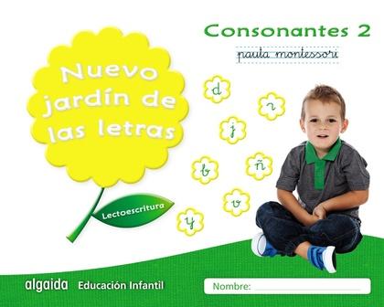 NUEVO JARDÍN DE LAS LETRAS. CONSONANTES 2. PAUTA.. LECTOESCRITURA PAUTA