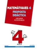 MATEMÀTIQUES 4. PROPOSTA DIDÀCTICA.
