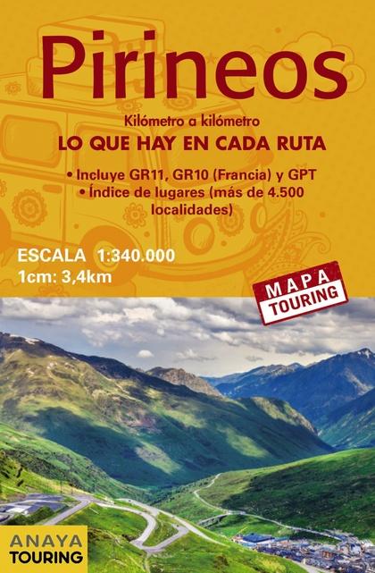 MAPA DE LOS PIRINEOS 1:340.000 -  (DESPLEGABLE).