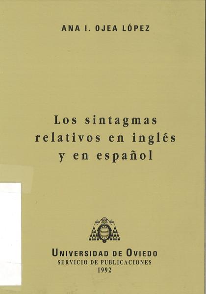 SINTAGMAS RELATIVOS EN INGLÉS Y EN ESPAÑOL, LOS